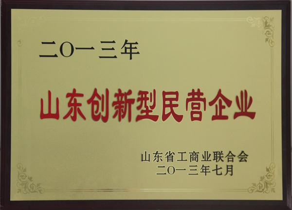 主题:山东创新型民营企业 日期:2013-07-06